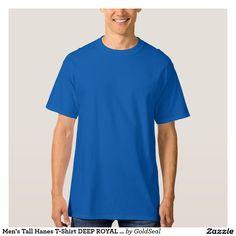 Men's Tall Hanes T-Shirt DEEP ROYAL LRG EXTRA + +