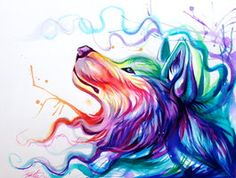 deviantART: More Like Rainbow Wolf Eye by *Lucky978