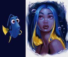 Cute Disney Drawings, Disney Princess Drawings, Disney Princess Art, Cute Drawings, Modern Disney Princesses, Disney Character Drawings, Character Art, Disney Characters As Humans, Humanized Disney