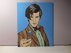 Doctor Who eleventh doctor  Canvas 24x 30 by grimNglam on Etsy