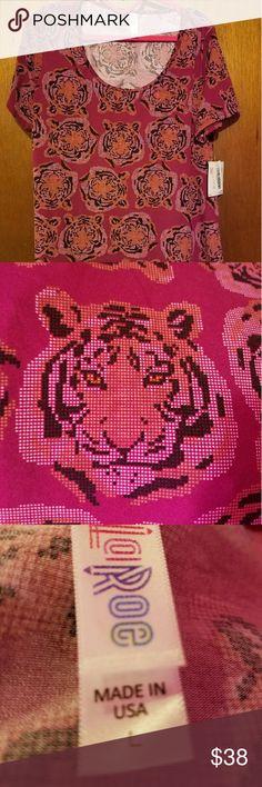 Lularoe Classic T. BNWT. Size Lg Lularoe Classic T. Beautiful Tigers. BNWT.  Size Lg Lularoe  Tops Blouses