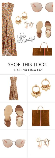 """""""Untitled #46"""" by mattiemase ❤ liked on Polyvore featuring Rebecca Taylor, Elizabeth Cole, Nine West, Clare V. and Christian Dior"""