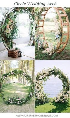 Wedding Arch Circle Diy 47 Best Ideas  #garden_wedding #Decoracion