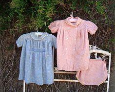 Vintage Prairie Flour Sack Pink & Blue by SofiasCobwebMuseum