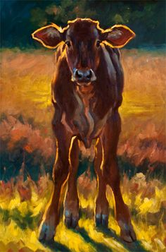 """Growing Pains"" Artist Cheri Christensen, I have an unexplainable love of what I call ""farm art."""