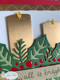 Small Candles, Christmas Catalogs, Holly Berries, Holly Leaf, Christmas Candles, Xmas Cards, Stampin Up Cards, Card Stock, Card Making