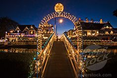 Venice Canals at Christmas, Los Angeles, CA
