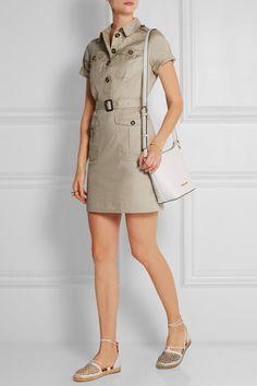 MICHAEL Michael Kors Bedford small textured-leather shoulder bag NET-A-PORTER.COM
