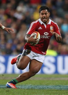 Manu Tuilagi of the Lions runs with the ball during the tour match between the Western Force and the British & Irish Lions at Patersons Stadium on June 5, 2013 in Perth, Australia.