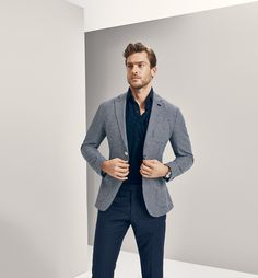 Gentleman style 548313323363761522 - Jason Morgan for Massimo Dutti – NYC Limited Collection Source by degalvez Gray Blazer Men, Blazer Outfits Men, Gray Jacket, Tweed Jacket, Der Gentleman, Gentleman Style, Mens Fashion Blog, Mens Fashion Suits, Men's Fashion