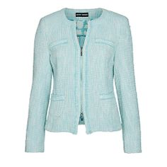 Buy Gerry Weber Boucle Jacket, Aqua Online at johnlewis.com