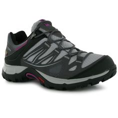 Salomon XA Pro 3D Ultra Men's Black Gray Trail Running Shoes Size 9.5 NO INSOLES