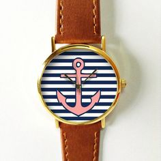 Anchor, Anchor Watch, Nautical Jewelry, Accessories, Women Watches, Mens Watch, Wedding, Gift, Beach Wedding, Unisex Watch, Anchor Print Ships Worldwide Type: Quartz Wrist Size: Adjustable from 17 cm to 21 cm (6.69 inches to 8.26 inches) Display: Analog Dial Window Material: Glass Case Material: Metal Case Diameter: 3.9 cm (1.53 inches) Case Thickness: 0.7 cm (0.27 inches) Band Material: PU Leather Band Width: 2.0 cm (0.748inches) Band Length: 24 cm (9.44 inches) Band Color : white, tan…
