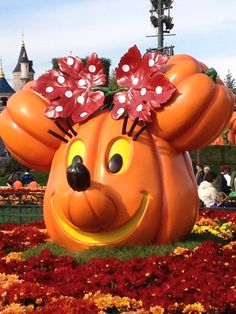Citrouille Minnie Halloween à Disneyland Paris - 2012