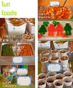 snacks ocean-s-robot-birthday-party
