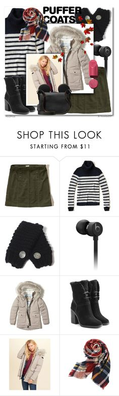 """Stay Warm: Puffer Coats"" by octobermaze ❤ liked on Polyvore featuring Hollister Co., Beats by Dr. Dre, UGG and puffercoats"