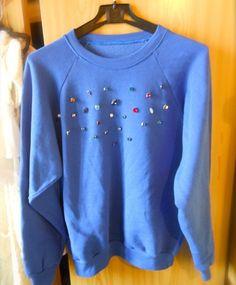 THE FASHIONAMY by Amanda: DIY Felpe,decorare e customizzare una felpa Amanda, Sweatshirts, Sweaters, Fashion, Moda, Fashion Styles, Trainers, Fasion, Sweater