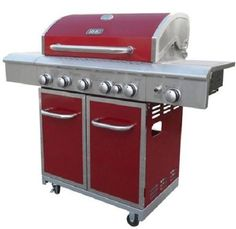 BBQ Gas Grill Rotisserie 5 Burner Stainless Steel Outdoor Patio Barbecue Propane #BBQGasGrillUSA