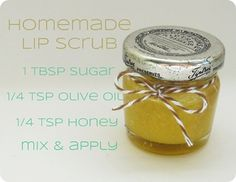 Homemade Lip Scrub - If you are NOT using refined white sugar, I suggest using organic brown sugar. The crystals in organic cane sugar are too large for the ingredients to mix well.