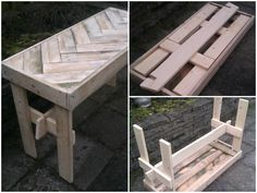 This is a foldable table, made for my kids from recycled pallets. In the summertime when they are playing in the garden, they can use it. When it's winter, the table can be folded and stored in the shed.     #Garden, #Kids, #PalletFurniture, #PalletTable, #RecyclingWoodPallets