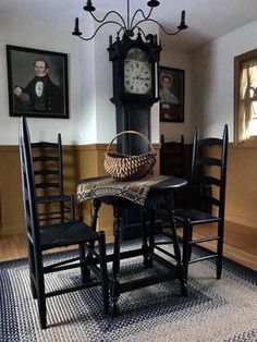 ideas farmhouse colonial primitive kitchen for 2019 Primitive Dining Rooms, Country Dining Rooms, Primitive Homes, Primitive Furniture, Country Primitive, Primitive Kitchen, Antique Furniture, Primitive Bedding, Country Living