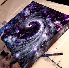 Galaxy on canvas