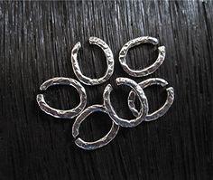 Rustic Textured Artisan Sterling Silver Jump by VDIJewelryFindings
