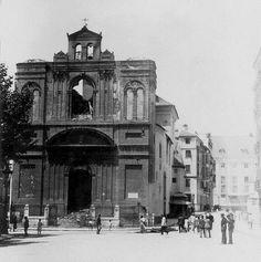 Iglesia de La Merced tras un incendio en 1931.