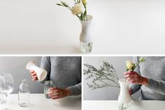 Lace by Milk Design / vase / mason jar / diy / reclaimed / recycle / design / ecodesign  / lace / flowers / interior / gadget