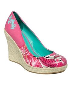 Ed Hardy Women's Shoes, Cetty Espadrille Wedges - Pumps - Shoes - Macy's