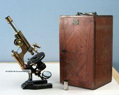 E Leitz Wetzlar Antique Brass Continental Microscope Stativ Ia W/wood Case 1900 Microscopes & Lab Equipment photo