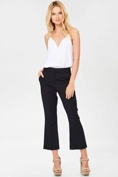 Elissa Petite Flare Pants in Black - Jeans For Petite Women - Ideas of Jeans For Petite Women - high waisted petite pants for work Fashion For Petite Women, Womens Fashion Casual Summer, Womens Fashion For Work, Fashion Fall, Best Petite Jeans, Petite Pants, Petite Clothes, Petite Outfits, Petite Dresses