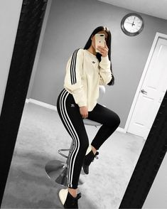 charming sporty outfit ideas with a dress for women 34 ~ my. charming sporty outfit ideas with. Lazy Outfits, Cute Casual Outfits, Sporty Outfits, Teenager Outfits, Nike Outfits, Girly Outfits, Dance Outfits, Ropa Interior Calvin, Looks Adidas