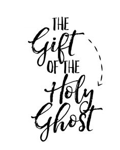 a fun lesson on the gift of the Holy Ghost - A girl and a glue gun