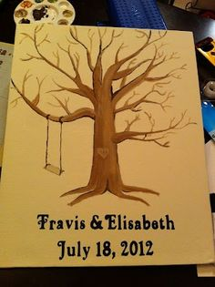 connoisseur of creativity our blog Thumb print tree as guest book for wedding (or family tree, baby shower). This blog has the DIY instructions!