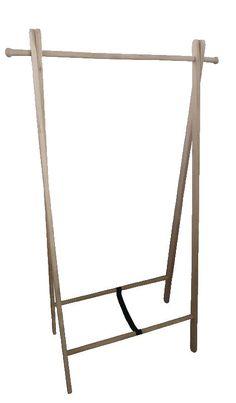 Frikk klesstativ, 151x89x52 cm, eik, hvitoljet