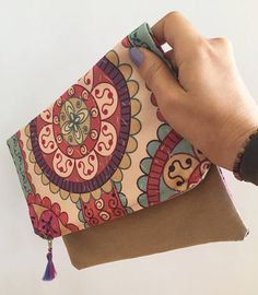 FOLD OVER CLUTCH/Ethnic Clutch Bag/Chic Clutch/Flower Ethnic