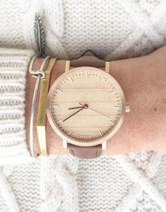 Keep time with a wooden watch. #EtsyFinds