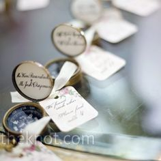 a favor and escort card in one!