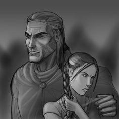 Lan and Nynaeve by mandersen.deviantart.com