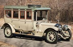 "This is a 1912 40/50 hp Rolls Royce Silver Ghost Limousine. Since the original owner wanted to drive the car the front seat has been enclosed and offers the same attention to detail as the rear passenger area. This car has a complete tea service for four w/ an alcohol stove. This car is named ""Corgi"" after the English die-cast toy maker modeled this car in the 1960's."