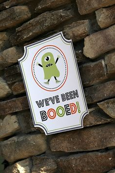 we've been booed sign - free printable