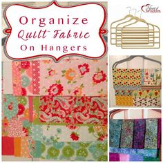 Organizing Quilt Fabric : Fat Quarters, Jelly rolls, Layer cakes on pant hangers