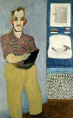 MIlton Avery (US 1885-1965), Self portrait (1941), oil on canvas (ca 134 x 84 cm), collection Neuberger Museum of Art