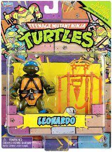 Amazon.com: Teenage Mutant Ninja Turtles Retro Collection 4 Inch Action Figure Leonardo: Toys & Games