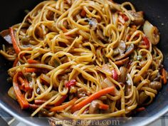 Beef singapore noodles recipe - By recipes+ Asian Recipes, Beef Recipes, Vegetarian Recipes, Cooking Recipes, Ethnic Recipes, Recipies, Singapore Noodles Recipe, Beetroot Relish, Bread Pudding With Apples