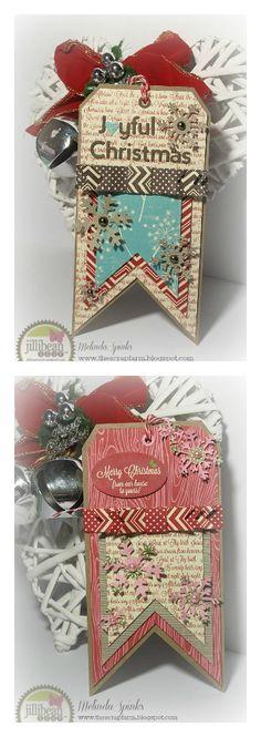 Christmas Tags by Melinda Spinks via Jillibean Soup Blog