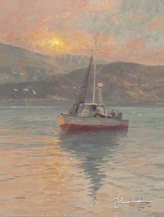 Sunrise, Sea of Galilee by Thomas Kinkade
