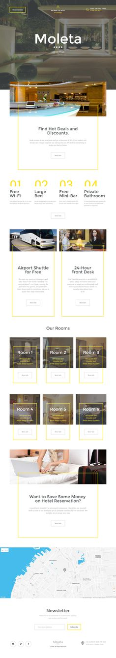 Luxury Hotel Landing Page Template on Behance