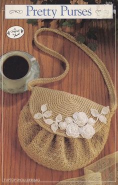 Fliptop Shoulder Bag, Annie's Attic Crochet Pattern Club Leaflet 2696 Part of the Pretty Purses Series